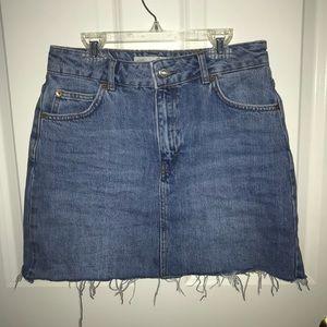 TOPSHOP: Mini Denim Skirt